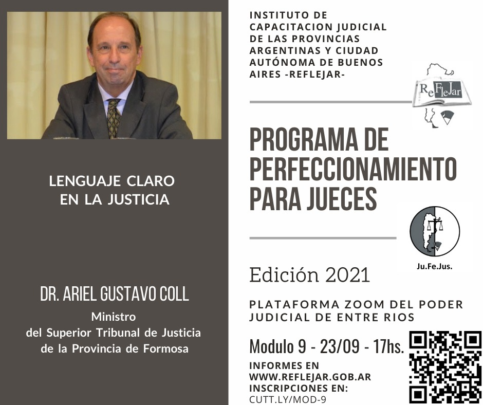 Charla sobre lenguaje claro a cargo del Dr. Ariel Gustavo Coll