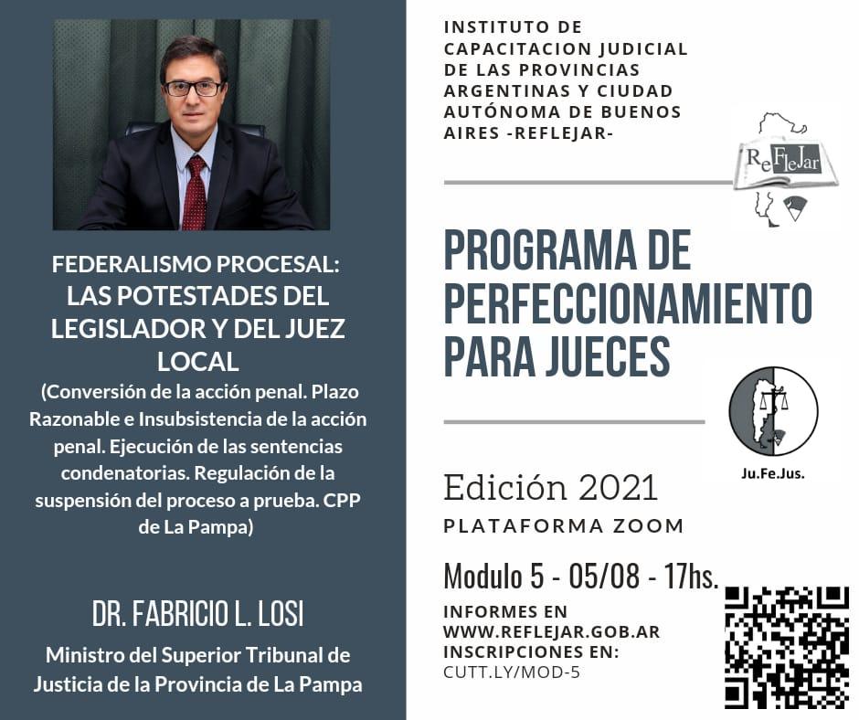 Programa de perfeccionamiento para jueces 2021