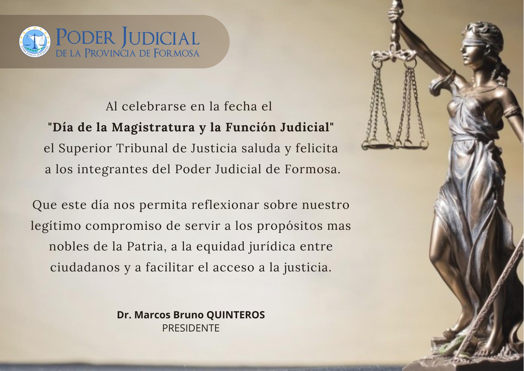 Salutación Día de la Magistratura y la Función Judicial